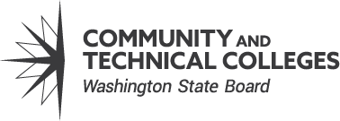 Washington State Board for Community and Technical Colleges black and white logo