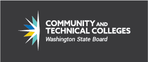 Washington State Board for Community and Technical Colleges reversed color logo