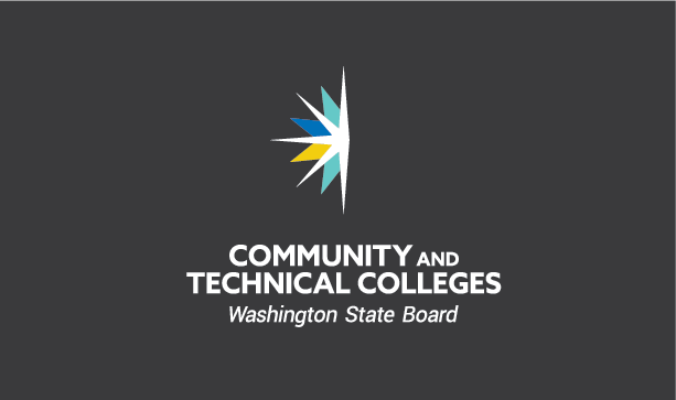 Washington State Board for Community and Technical Colleges reversed color vertical logo