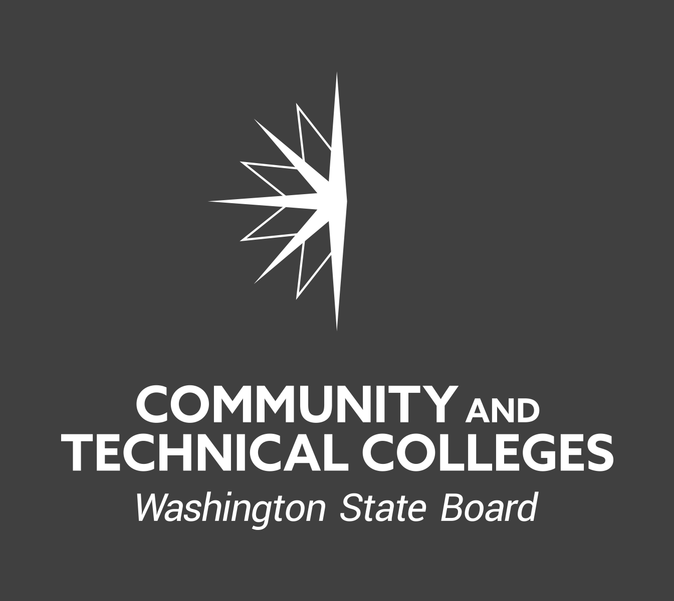 SBCTC reversed logo vertical