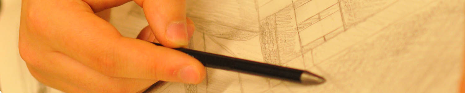 Close-up of pencil sketching