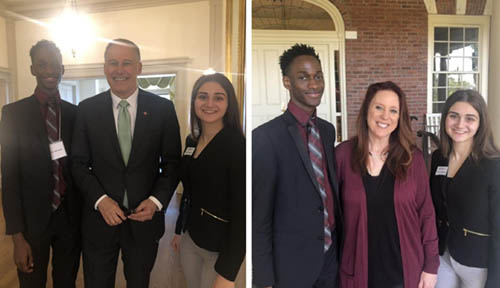 Mustapha and Kristina with Jay Inslee and Kim Wyman