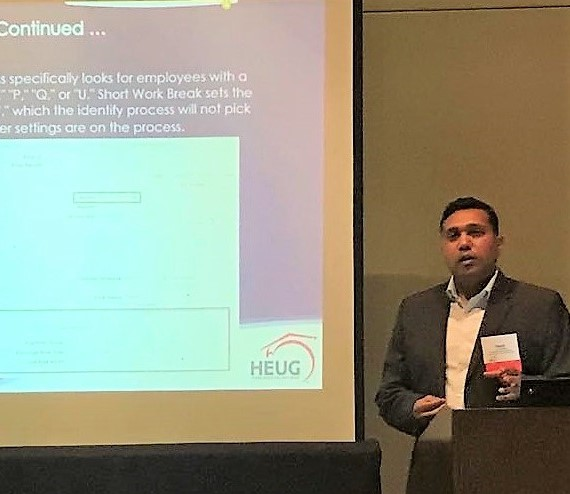 Sanjiv Bhagat presents at the Northwest Regional User Group conference