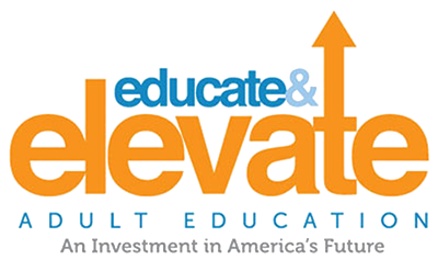 Elevate & Educate adult education advocacy campaign logo
