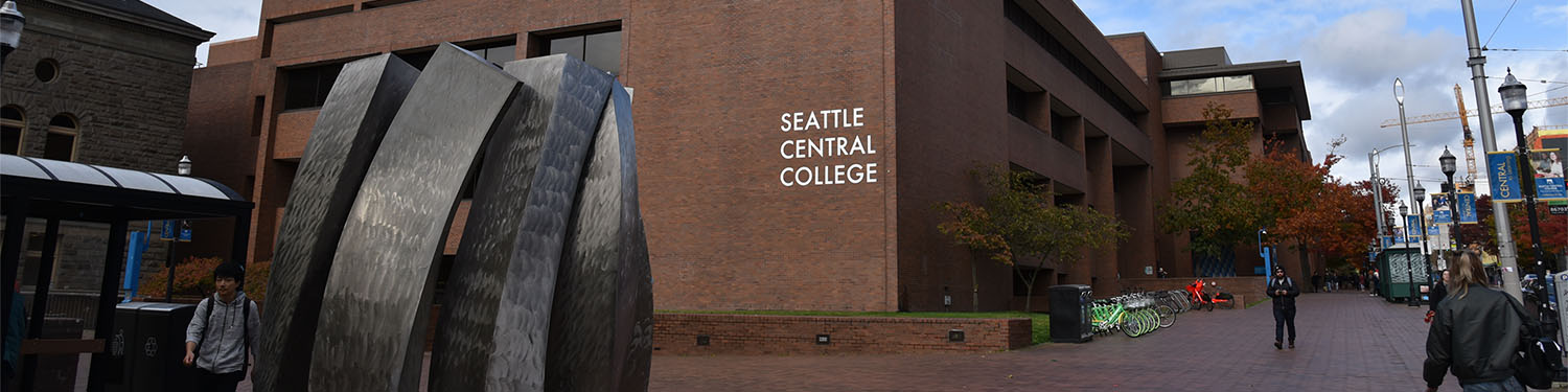 Arial view of the sprawling downtcome campus of Seattle Central College