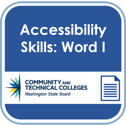 Accessibility Badge: Word 1